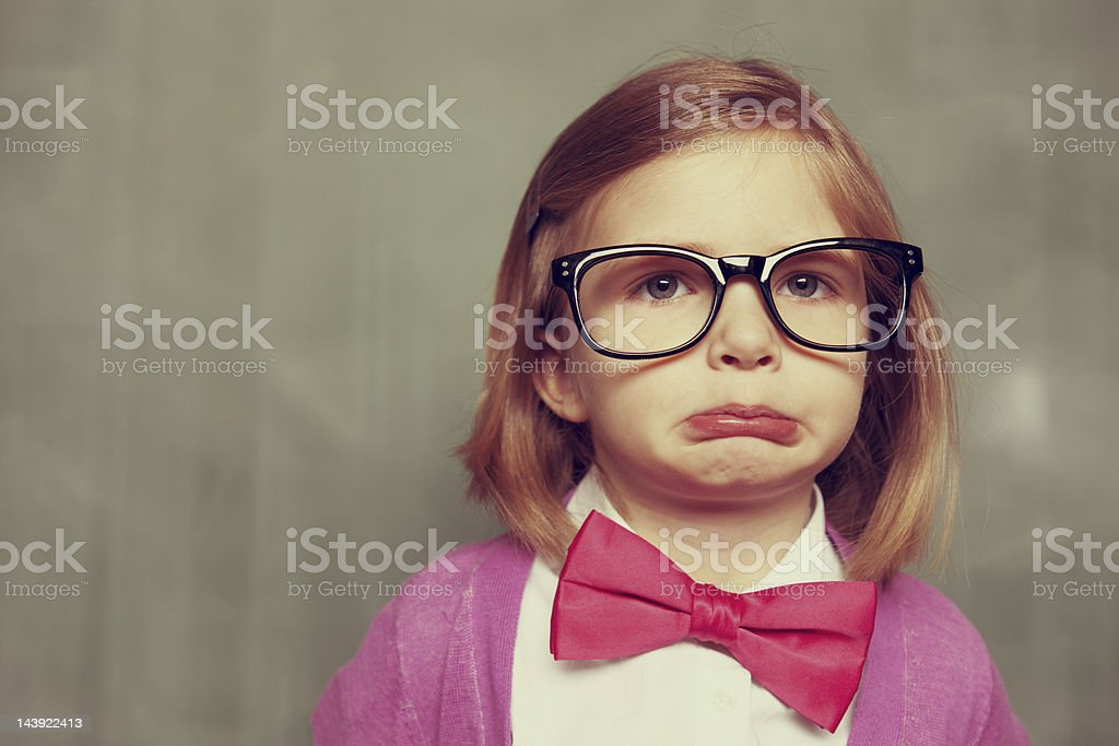 Sad Nerd royalty-free stock photo