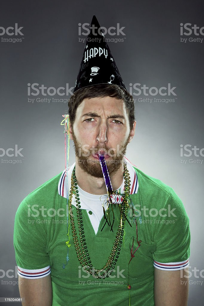 Sad Party Pooper royalty-free stock photo