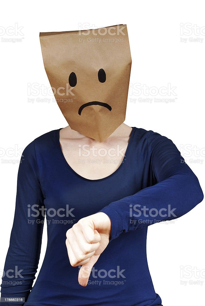 sad person stock photo