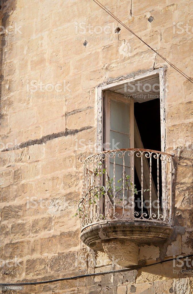 Sad Plant on a Balcony royalty-free stock photo