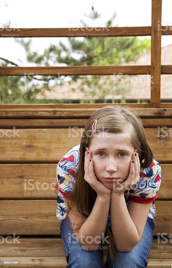 Sad Preteen Girl 2 royalty-free stock photo