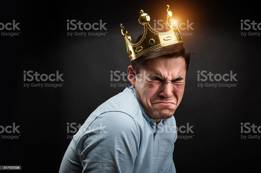 Sad prince stock photo