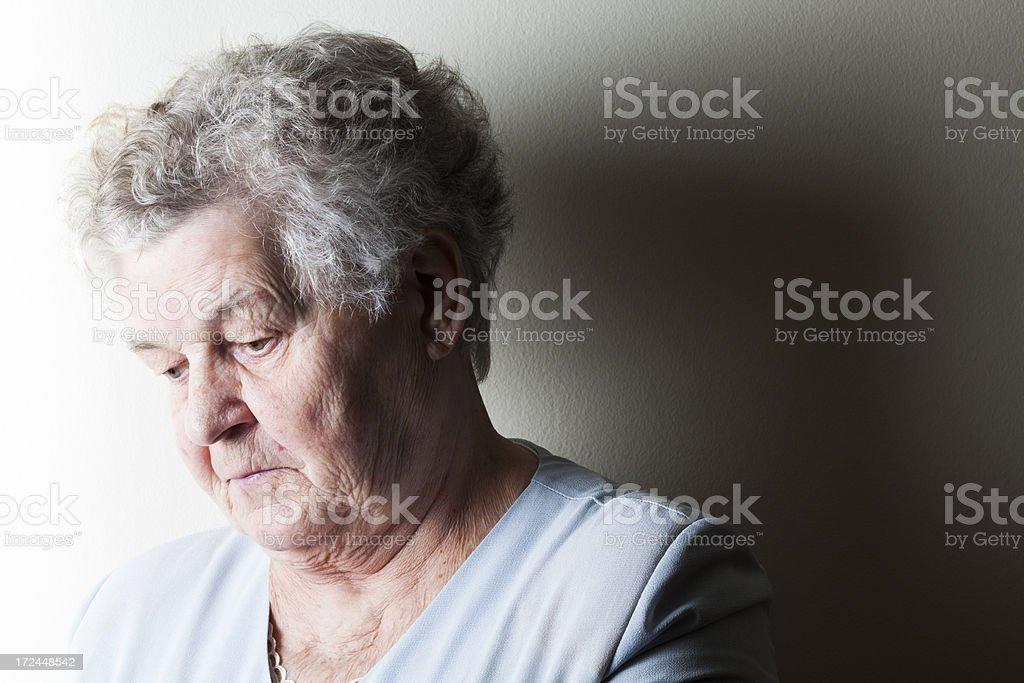 Sad retirement royalty-free stock photo