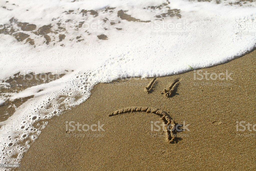 sad smile on the beach royalty-free stock photo