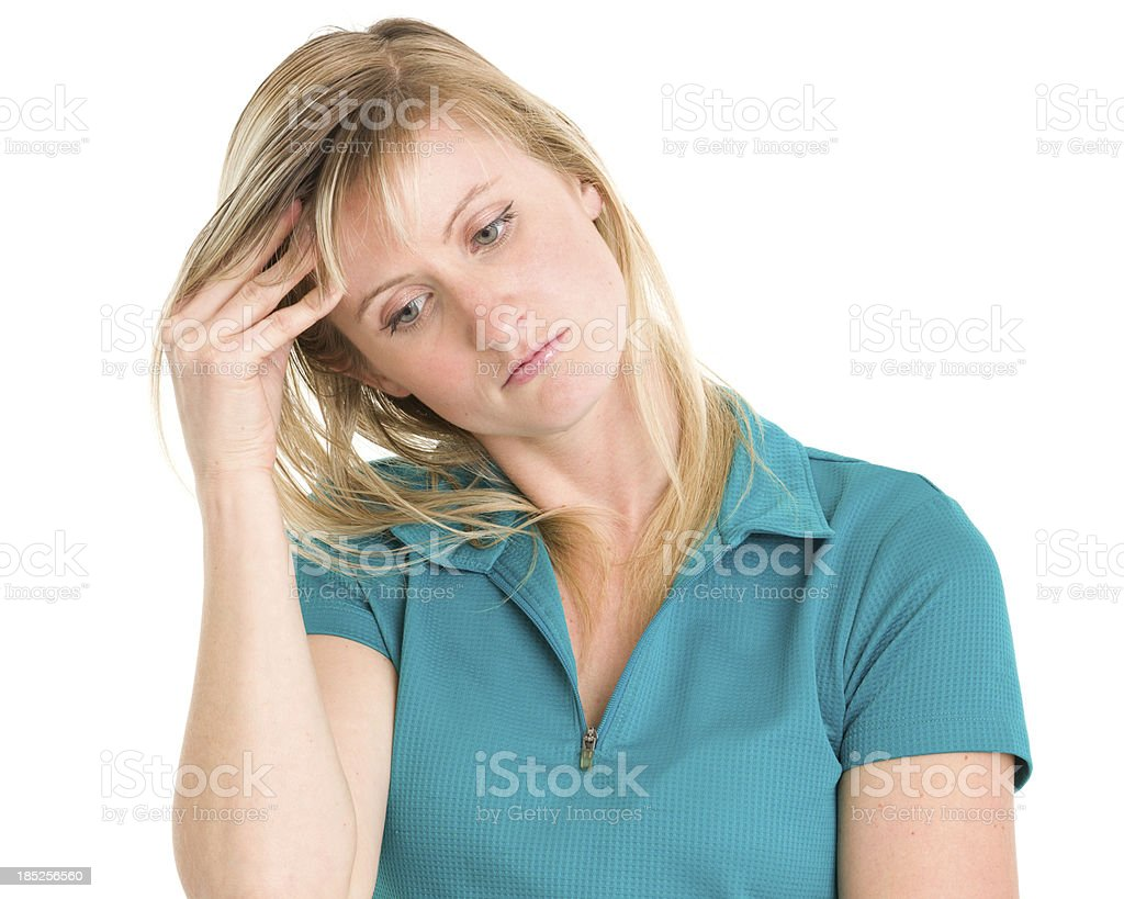 Sad Stressed Young Woman royalty-free stock photo