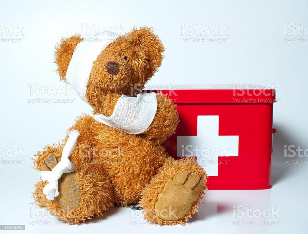 sad teddybear stock photo