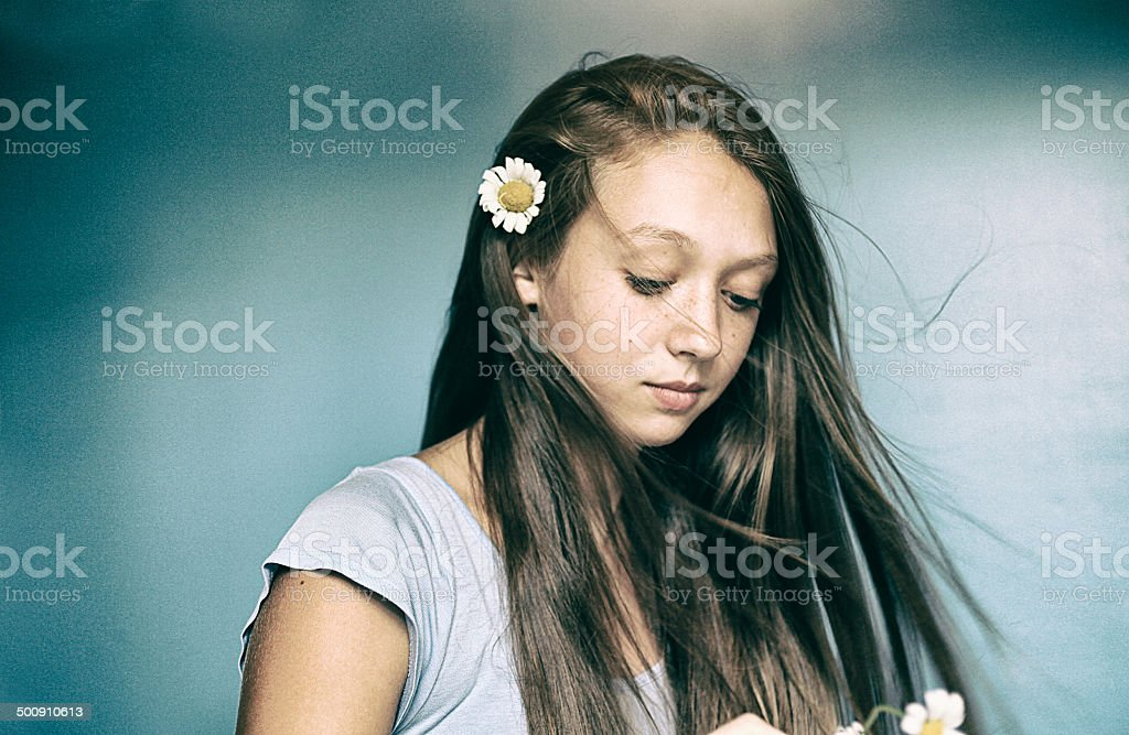 sad teen girl royalty-free stock photo