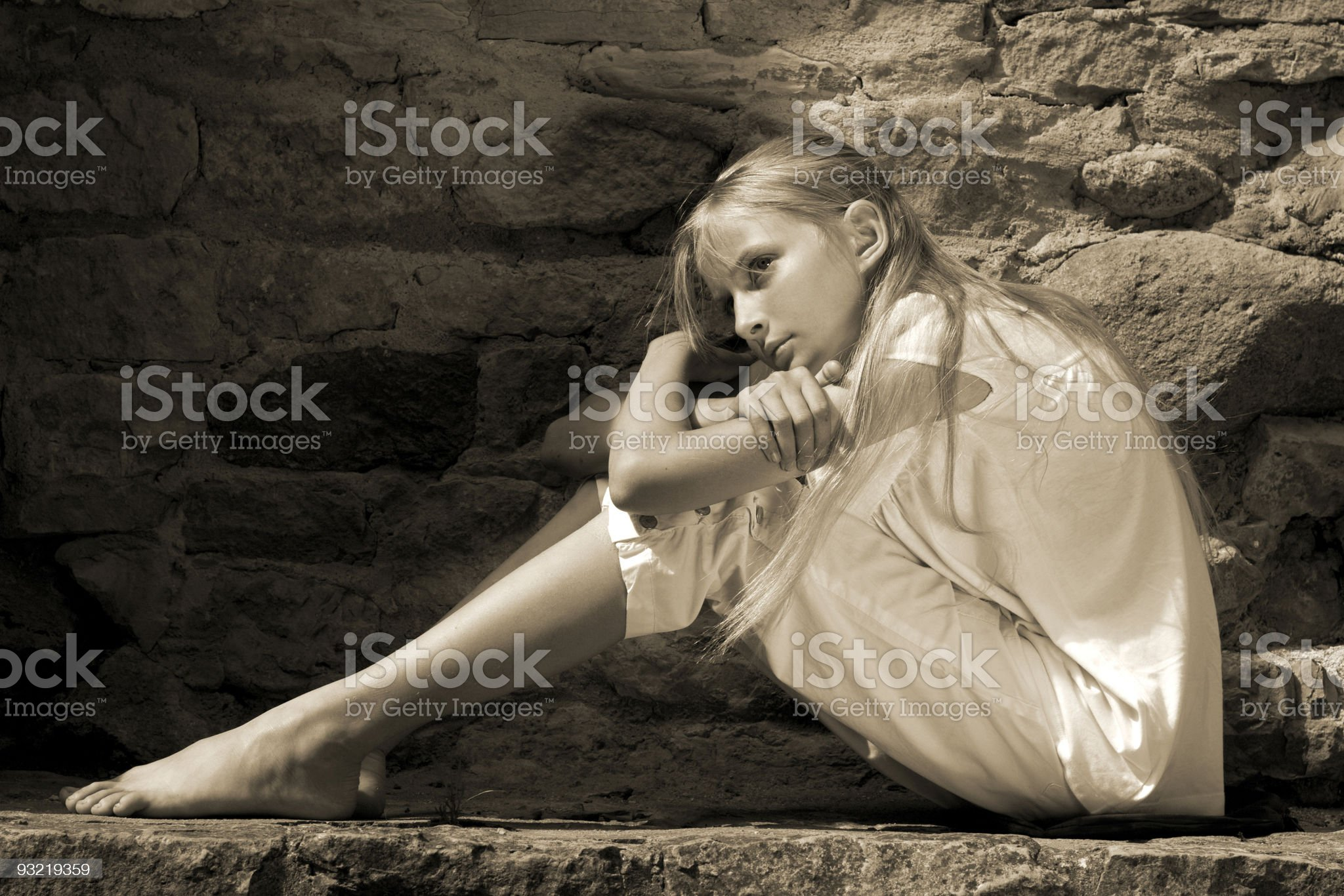 Sad teenager girl royalty-free stock photo