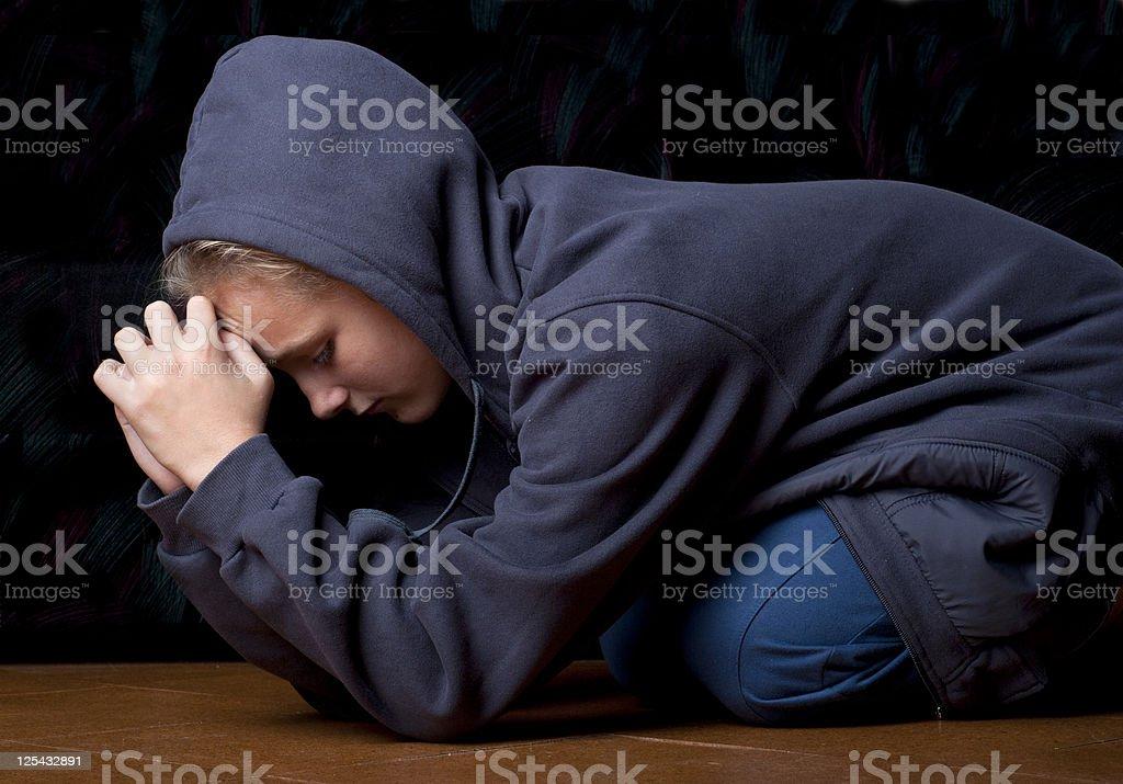 Sad teenager royalty-free stock photo
