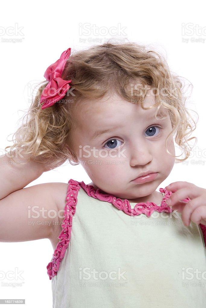 Sad Toddler stock photo