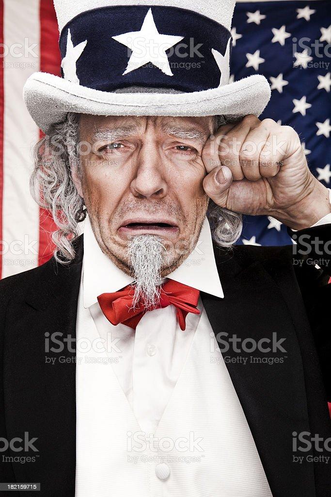 Sad Uncle Sam stock photo