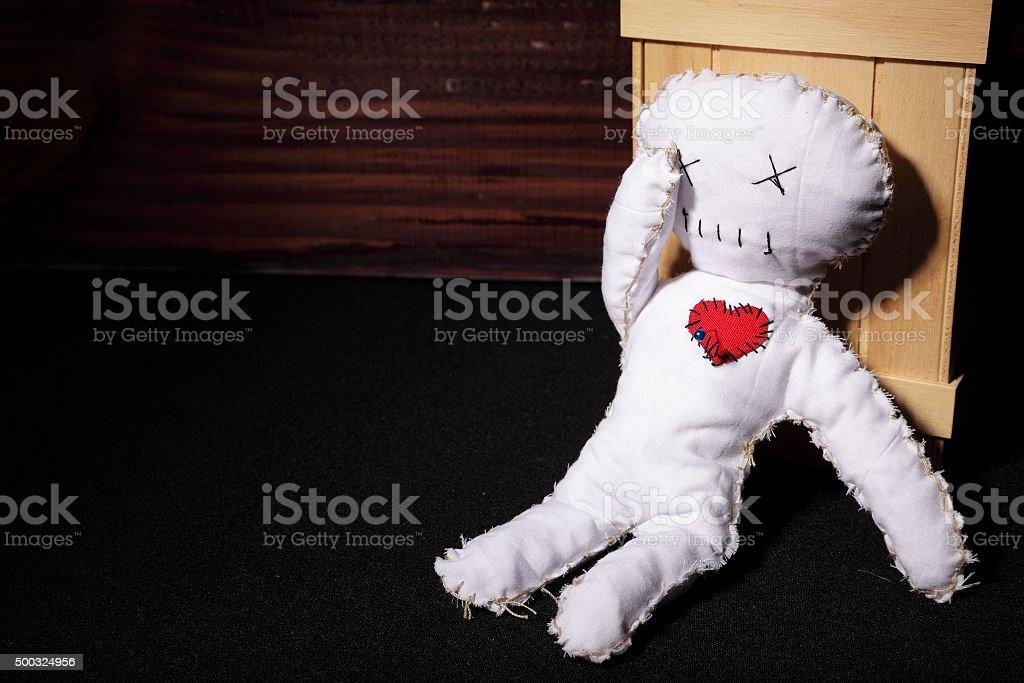Sad Voodoo Doll stock photo