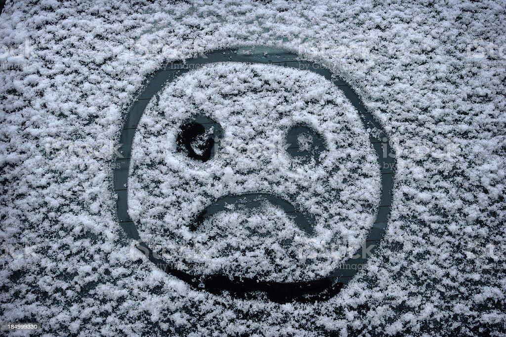 Sad Winter Face royalty-free stock photo