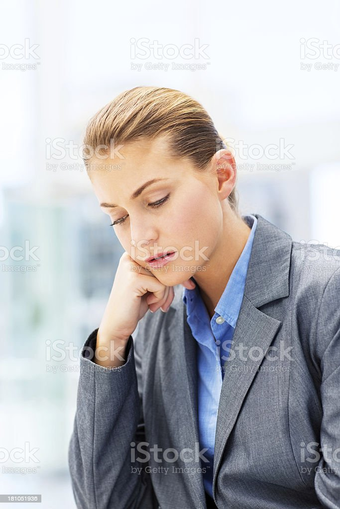 Sad Young Businesswoman royalty-free stock photo
