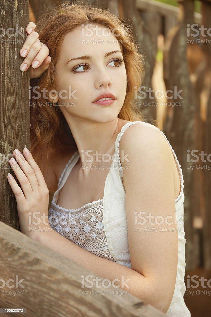 sad young girl royalty-free stock photo