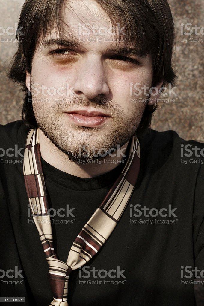 Sad young man royalty-free stock photo