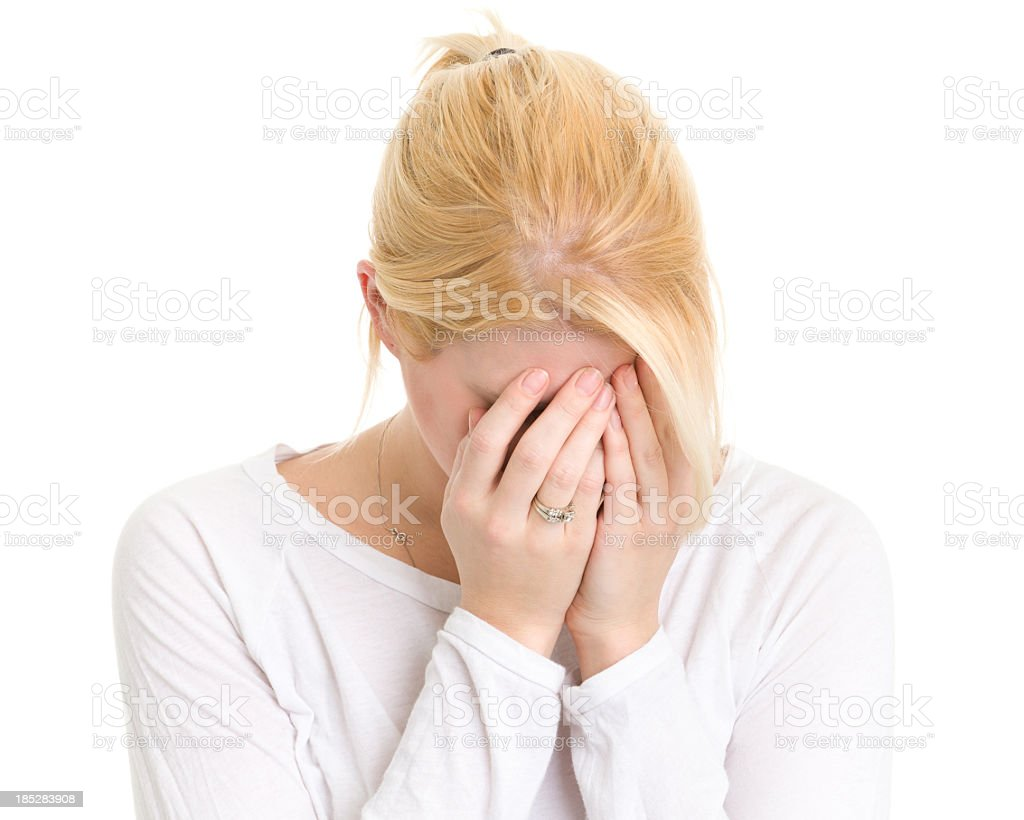 Sad Young Woman Crying royalty-free stock photo