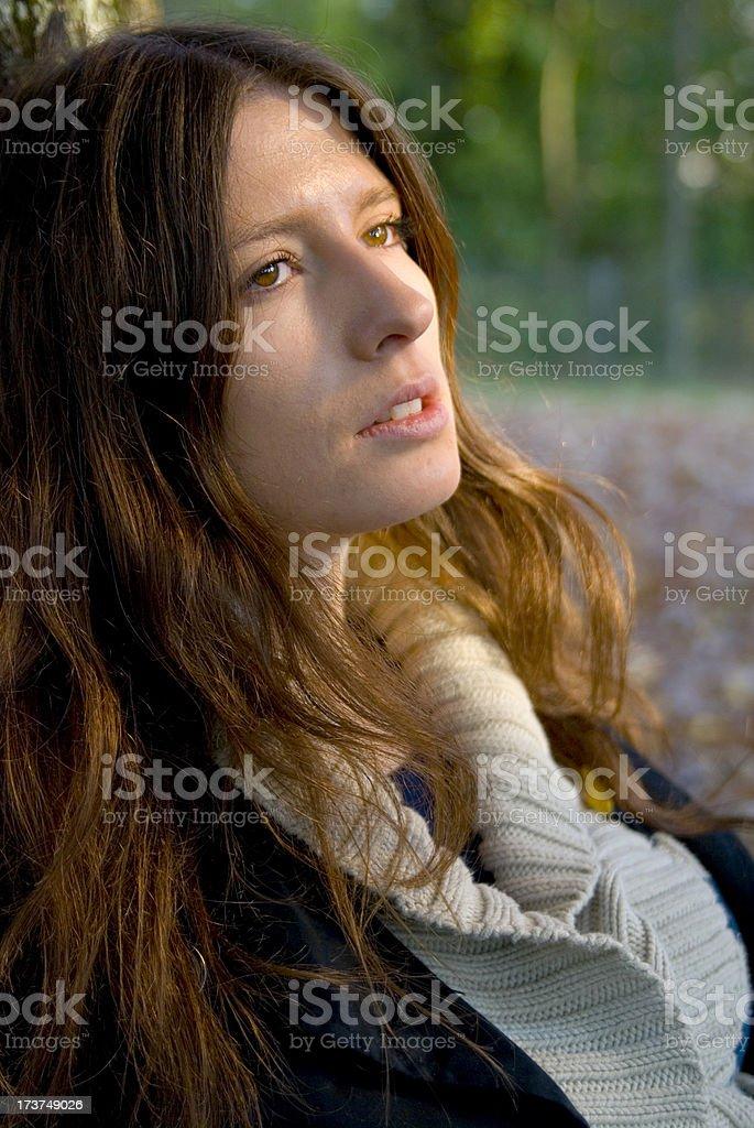 sad young women stock photo