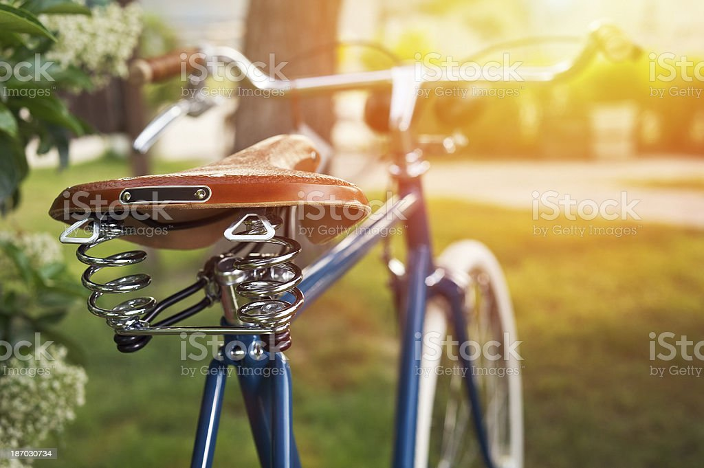 Saddle for bicycle stock photo