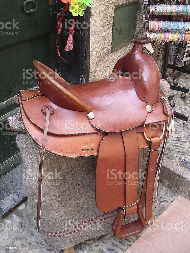 Saddle for Sale. stock photo