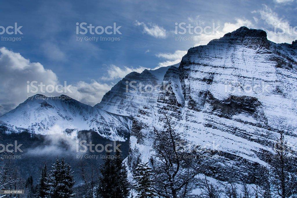 Saddle Mountain Pass stock photo