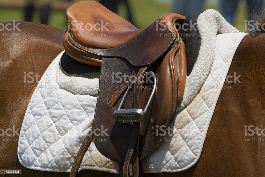 saddle royalty-free stock photo