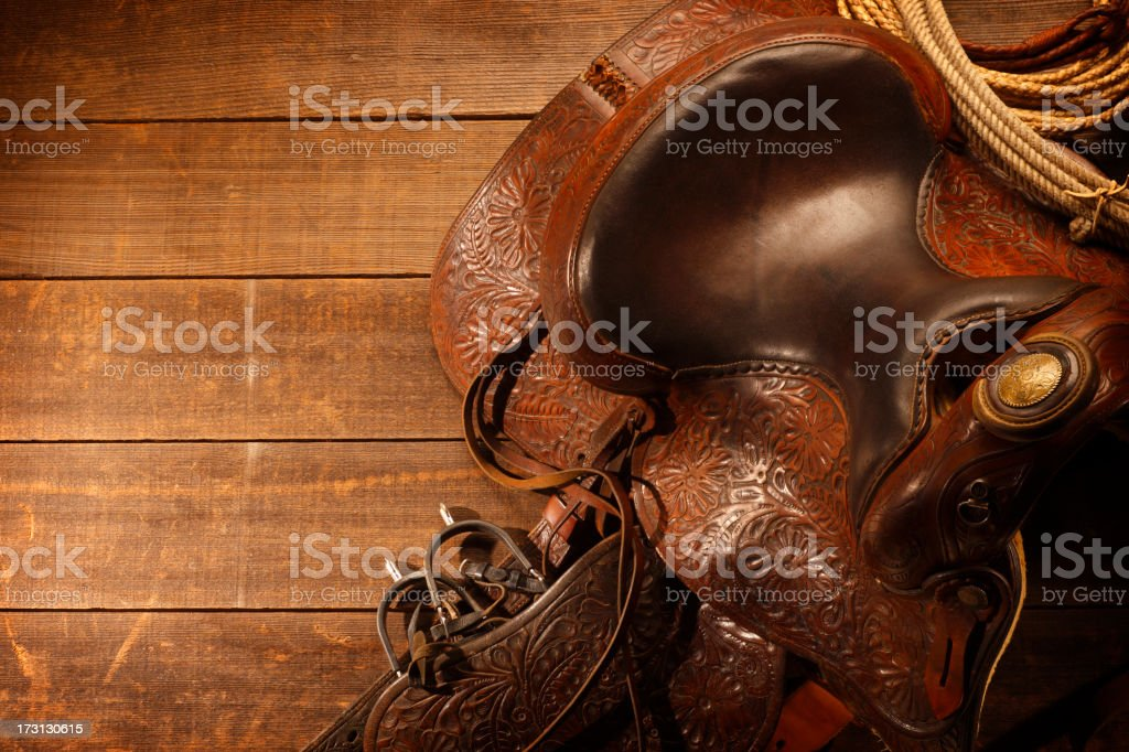 Saddle stock photo