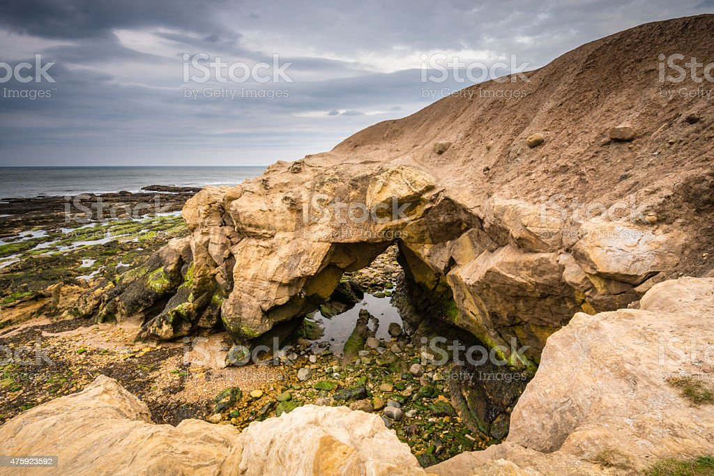Saddle Rocks at low tide stock photo