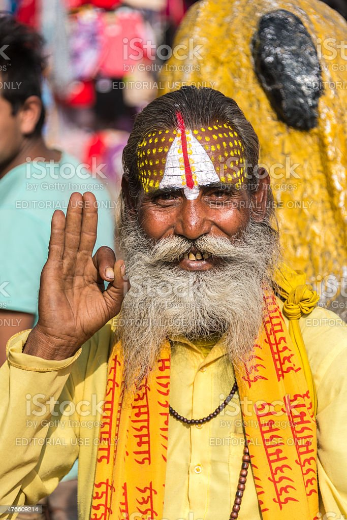 Sadhu _Nepalese Religious man stock photo