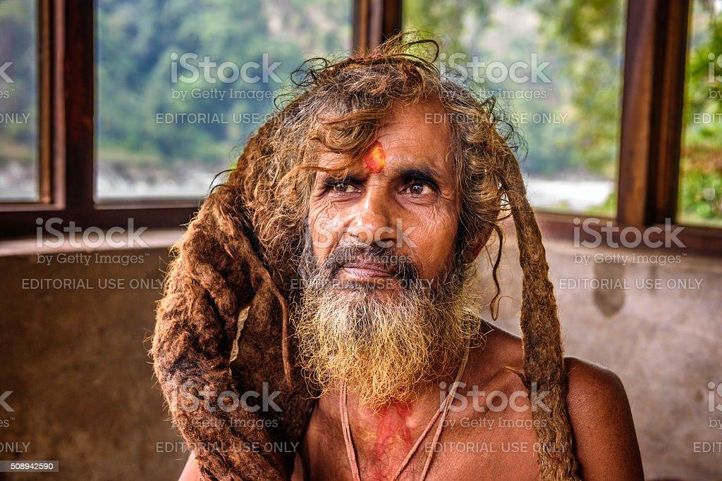 Sadhu baba  (holy man) stock photo