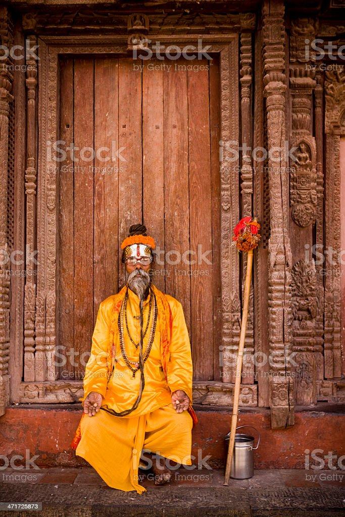 Sadhu Durbar Square royalty-free stock photo