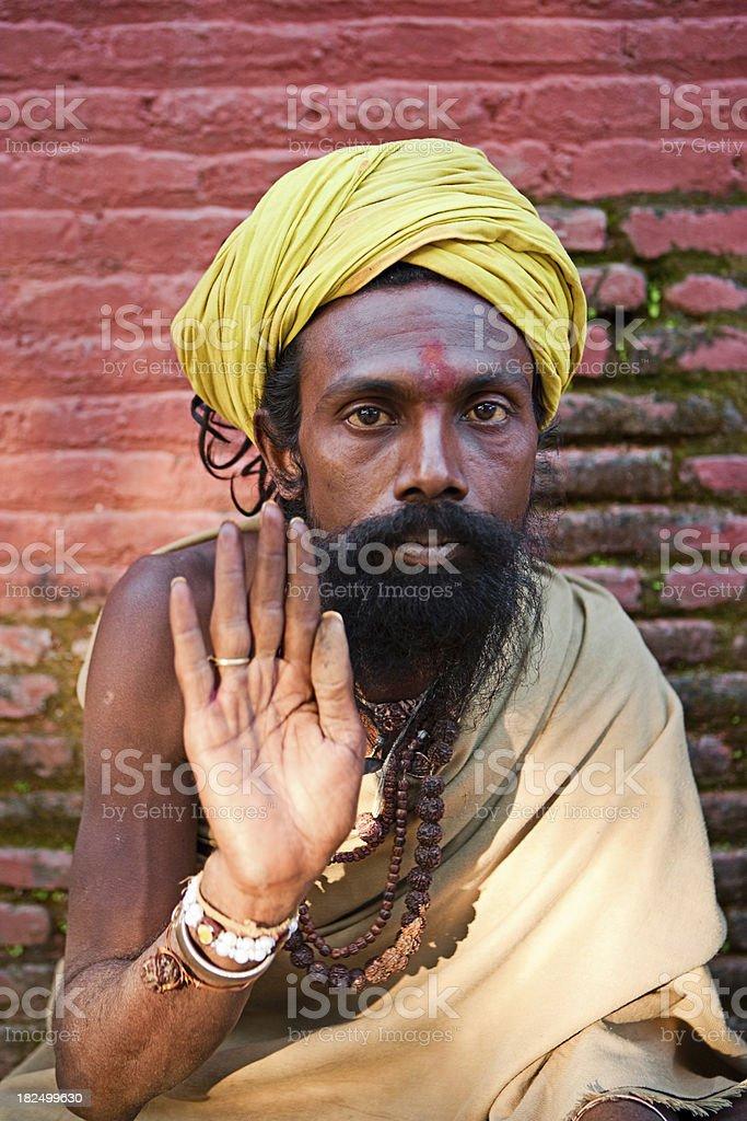 Sadhu - holy man royalty-free stock photo