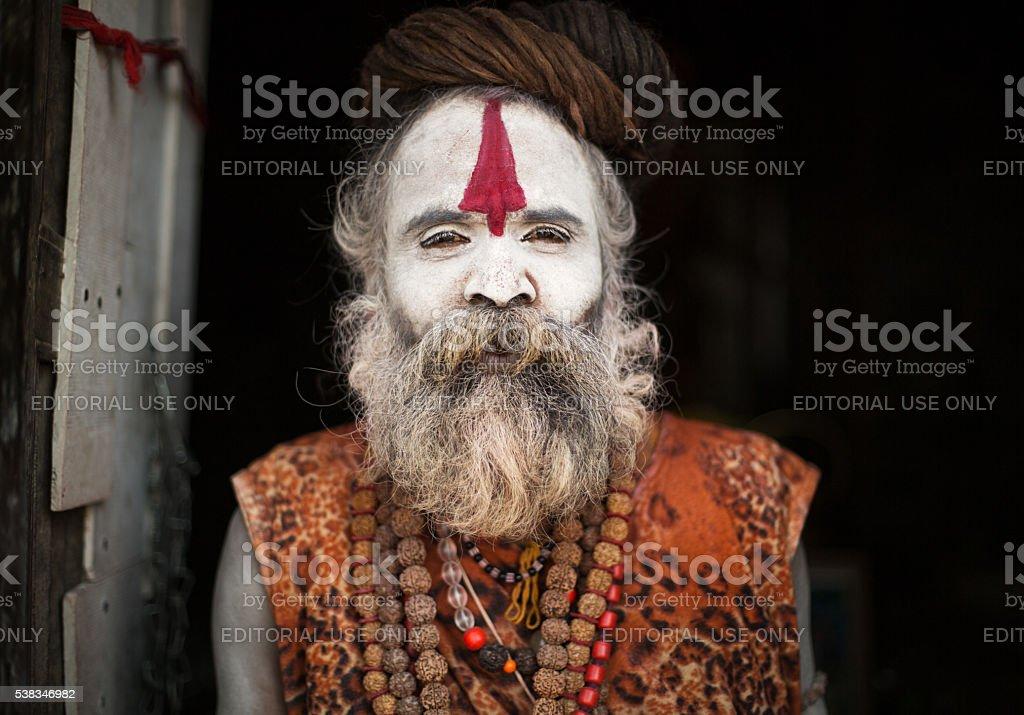 Sadhu monk stock photo