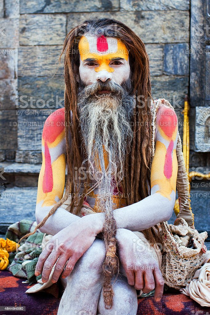 Sadhu, Nepal stock photo