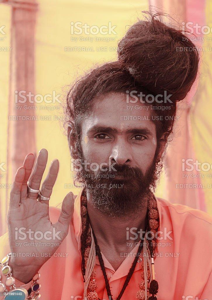 sadhu stock photo