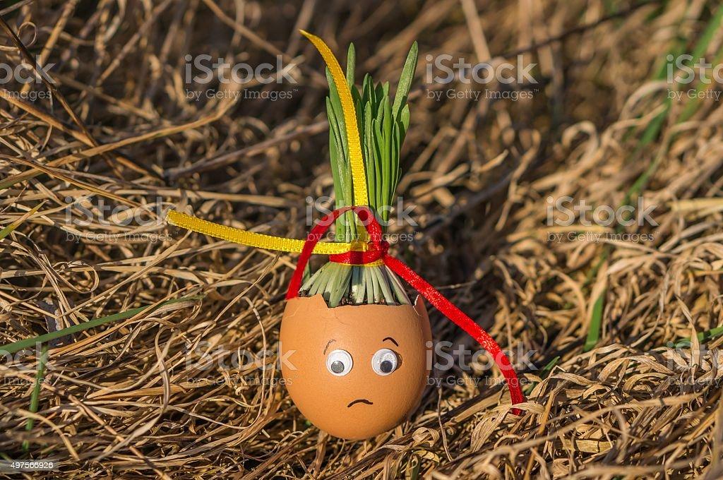 Sadly egg stock photo