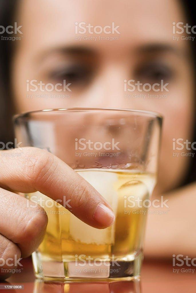 sadness and whisky royalty-free stock photo
