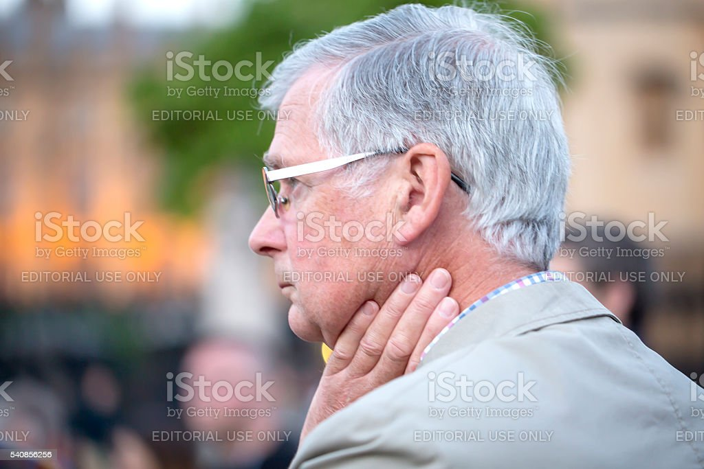 Sadness at Jo Cox's Vigil stock photo