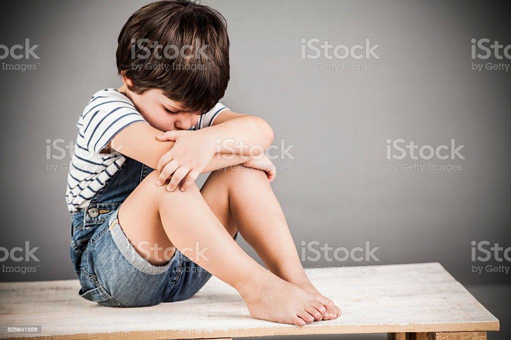 Sadness Boy stock photo