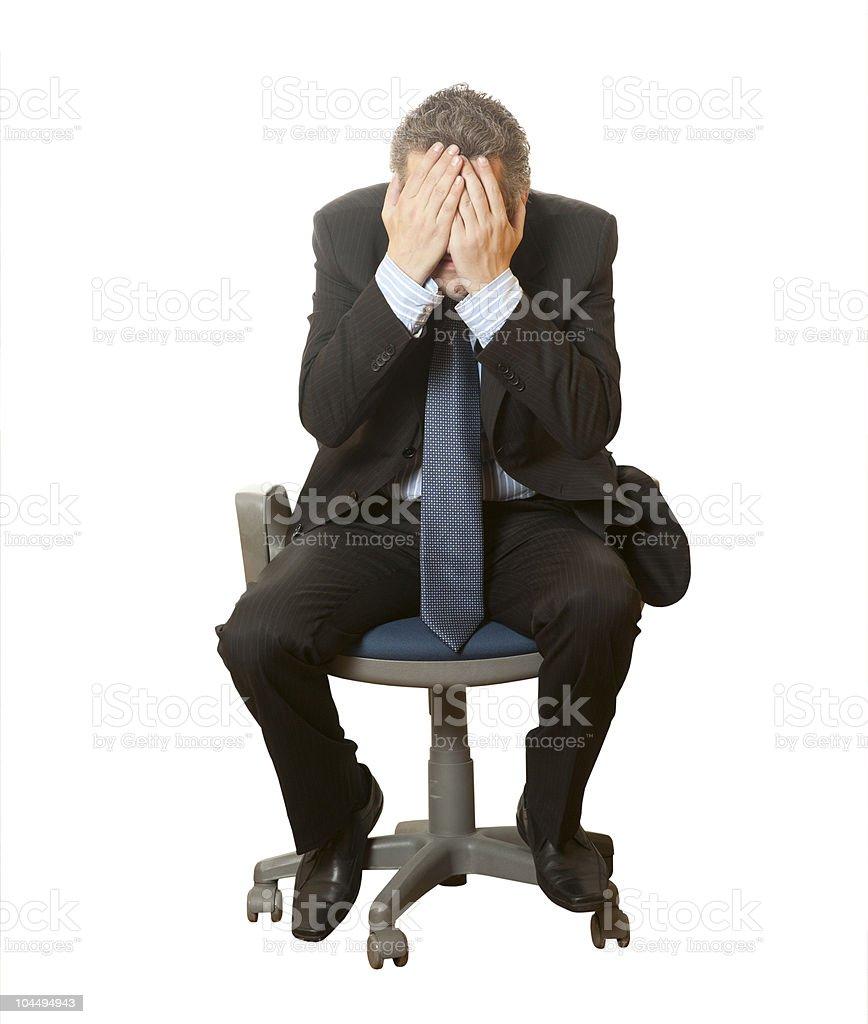 Sadness businessman royalty-free stock photo