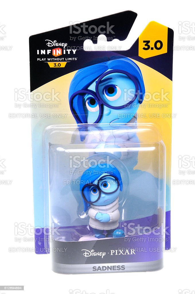 Sadness Disney Infinity 3.0 Figurine stock photo