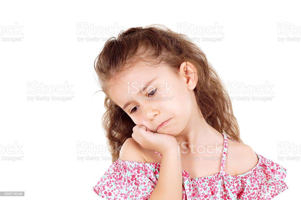 sadness little girl stock photo