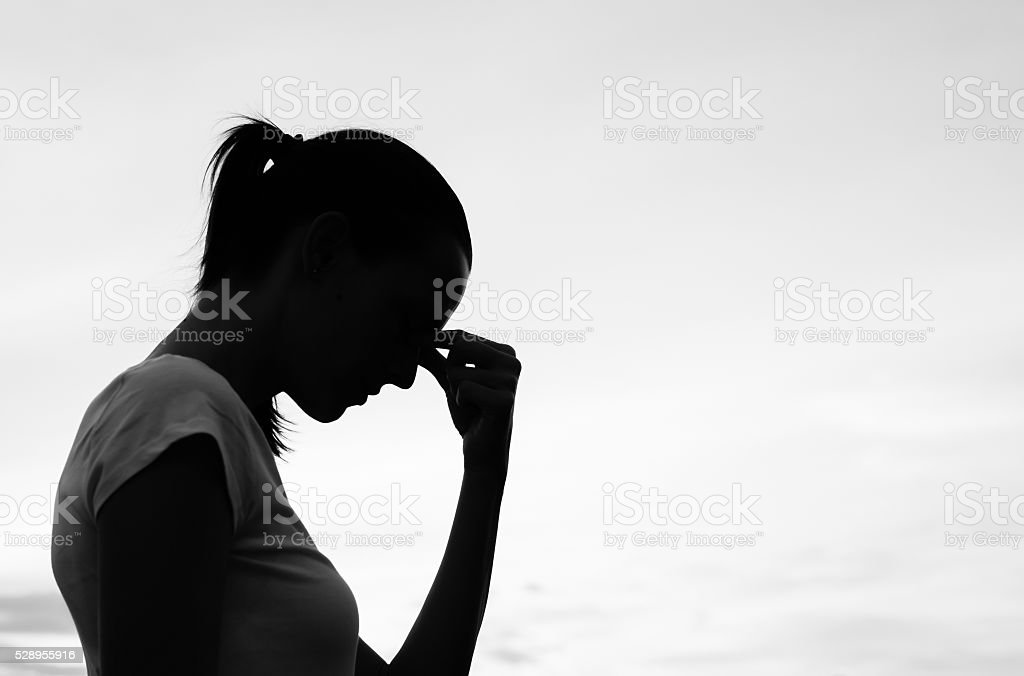 Sadness stock photo