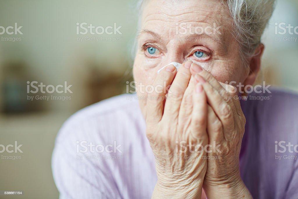 Sadness stock photo