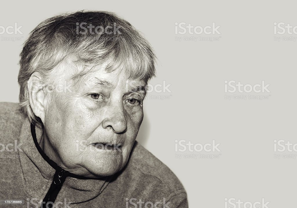 Sadness Senior woman royalty-free stock photo