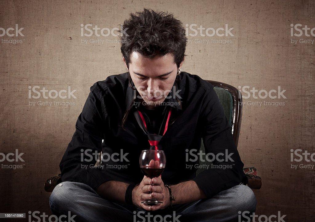 Sadness young Man royalty-free stock photo