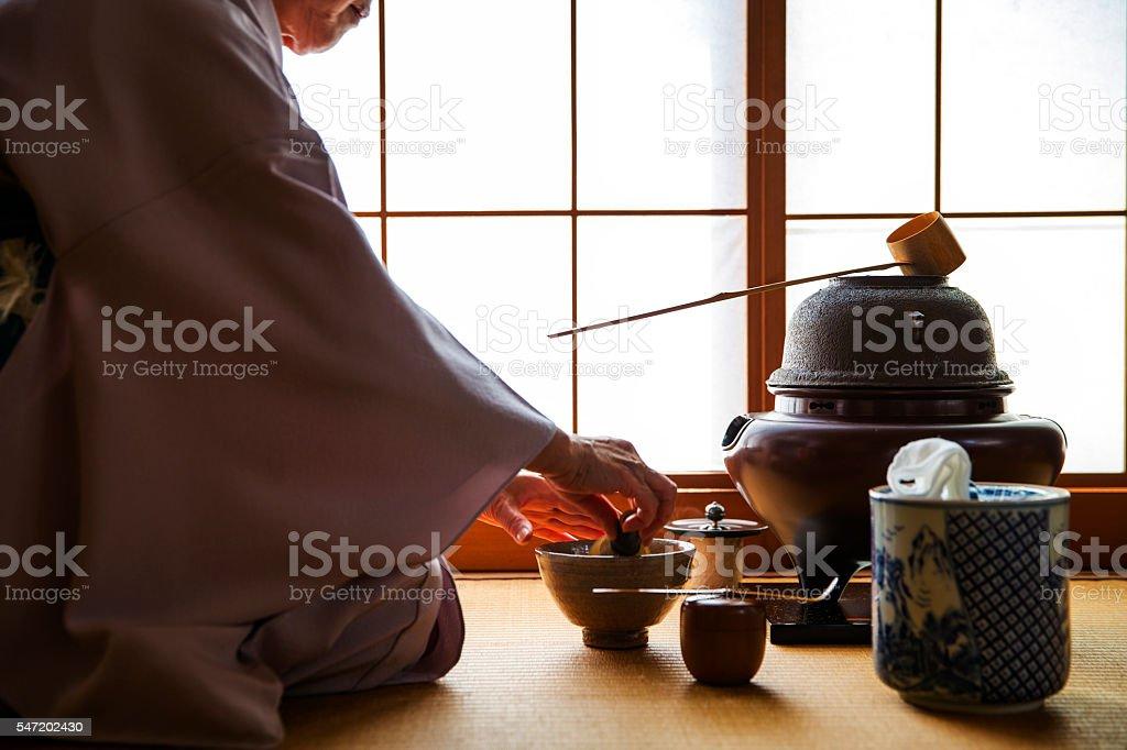 Sado (Traditional Japanese Tea Ceremony) stock photo