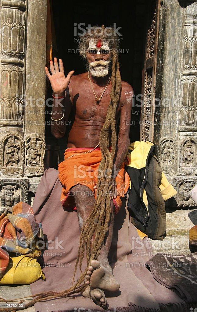 Sadu In Pashupatinath Temple royalty-free stock photo