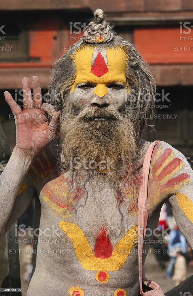 Sadu In Pashupatinath Temple royalty-free stock photo
