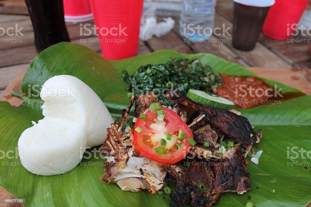 Sadza; a Zimbabwean delicacy stock photo